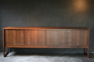 A palissander sideboard with 4 doors by Oswald Vermaercke, V- form