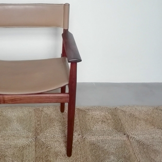 A rosewood and leather danish chair for Sibast