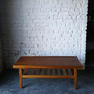 A teak vintage bench or coffeetable