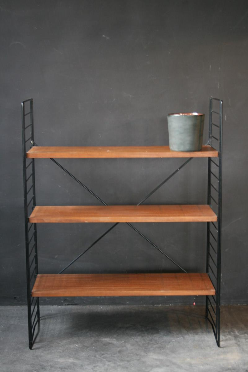 A tomado black metal and wooden etag re furniture antiques authentic an - Etagere modulable metal ...