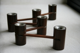 Danish flexible palissander candle holder