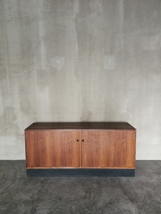 Danish palissander sideboard with two doors on a black base