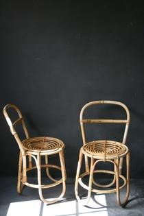 Pair of small rotan chairs