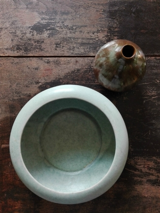 Selection of vintage ceramic bowl and small vase