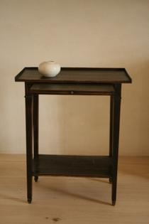 Small black patinated side table