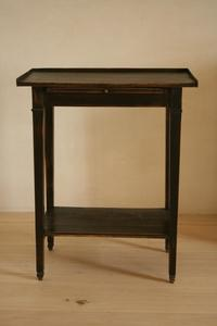 Small Black Patinated Side Table Antiques Authentic And So